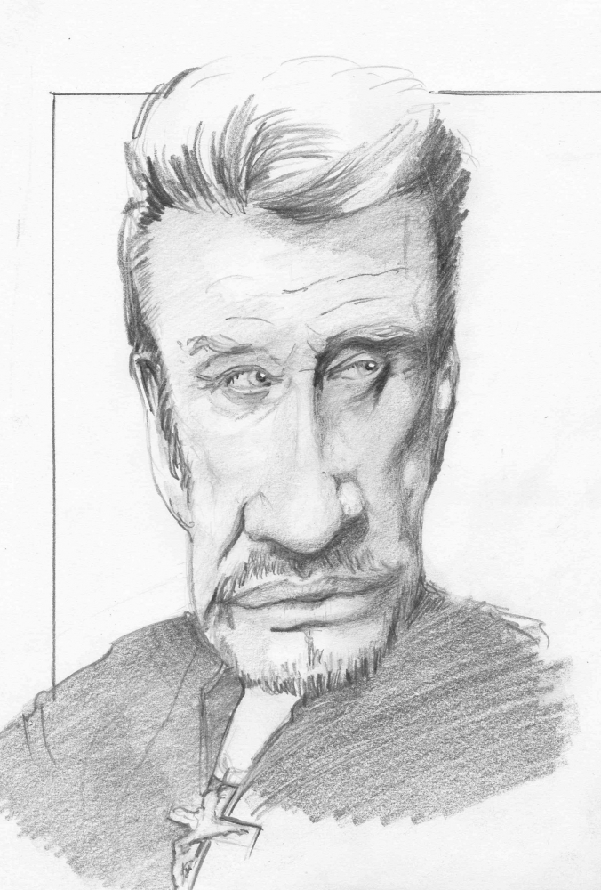 Johnny Hallyday by metaldrawings